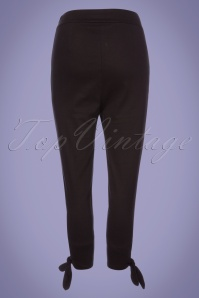 Collectif Clothing Anna Plain Capris in Black 22828 20171121 0015W