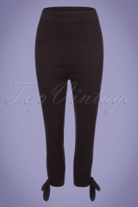 Collectif Clothing Anna Plain Capris in Black 22828 20171121 0005W