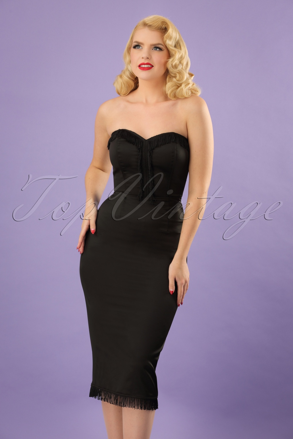 50s Loren Pencil Dress in Black
