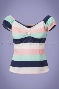 Collectif Clothing Dolores Candy Stripes Top 23635 20171122 0001W