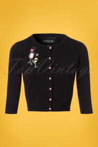 Collectif Clothing Lucy Atomic Cocktails Cardigan in Black 23614 20171122 0001w