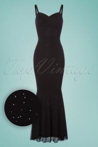Collectif Clothing Delia Glittery Maxi Dress in Black 22549 20171120 0002W1