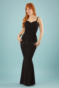 Collectif Clothing Delia Glittery Maxi Dress in Black 22549 20171120 01W