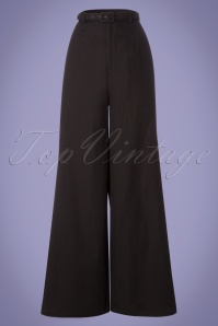 Collectif Clothing Vicky Plain Trousers in Black 22832 20171120 0003W