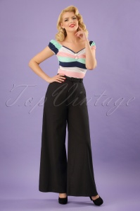 Collectif Clothing Vicky Plain Trousers in Black 22832 20171120 1W
