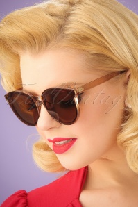 Revival Transparent Sunglasses Années 60 en Brun