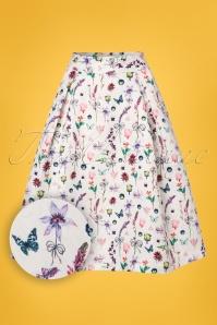 Yumi White Floral Skirt 122 59 22930 20180224 0001W1