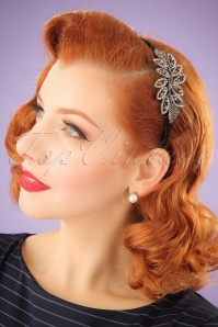 20s Bethel's Sparkly Hair Band in Black