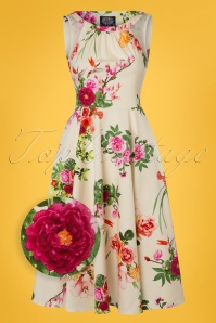 Hearts and Roses Light Yellow Floral Dress 102 89 24543 20180224 0008wv