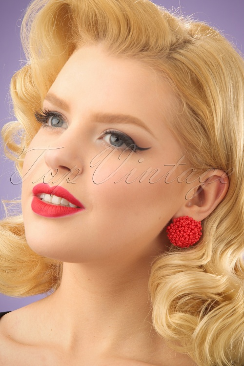 Glamfemme Red Earrings 330 20 24980 03032014 001W
