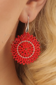 Glamfemme Red Earrings 333 27 24978 03032014 002W