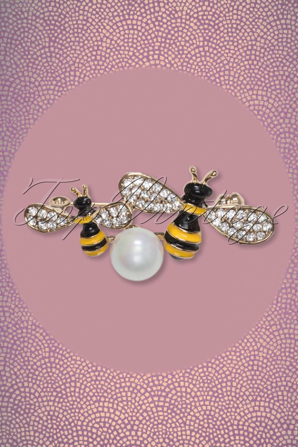 d5284f2c299 50s Sparkly Buzz Brooch in Gold