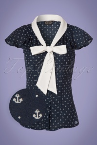 Vixen Susan Nautical Blouse Navy 112 39 23236 20180226 0002wv
