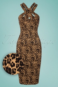 Vixen Lauren Leopard Pencil Dress 100 79 23208 20180227 0002W1