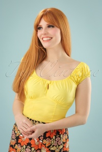 50s Melissa Top in Yellow
