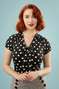 King Louie Polkadot Bow Blouse 112 14 230974 0002W(4)