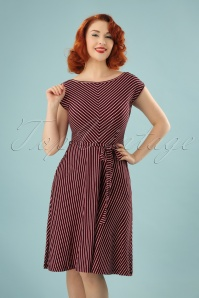 Grace Slim Shady Swing Dress Années 70 en Rouge Rubis