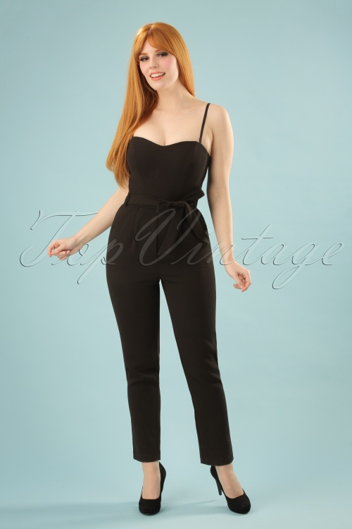70s Jessica Rabbit Who Jumpsuit In Black