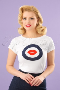 60s Florina T-Shirt in White