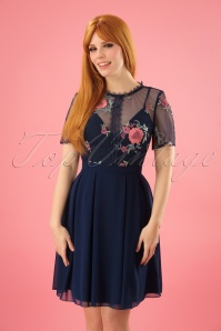 Little Mistress Navy Floral Dress 102 31 23912 20180126 0004W (2)