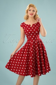 Bunny Nicky 50 s Red Polkadot Dress 102 27 24030 20180123 0010W(2)