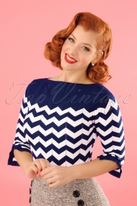 Dancing Days by Banned Vanilla Top in Navy Blue 113 27 24258 20180125 0010MODELW