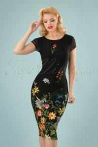 Vintage Chic Floral Border Pencil Dress 100 14 24478 20180125 0001W (2)