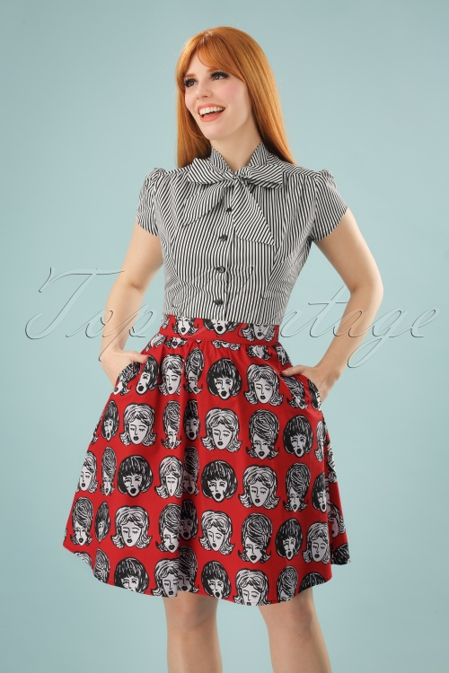 Retrolicious Wig Out Aline Skirt in Red 123 27 24629 20180125 0003W (2)
