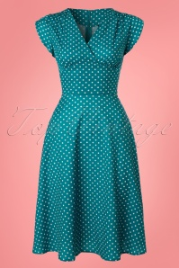 Vixen Tabby Polka Teal Dress 102 39 23214 20180228 0003W