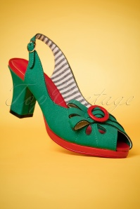 Banned Green Peeptoe Pumps 403 40 24131 26022018 009W