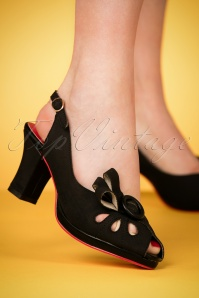Banned Black Peeptoe Pumps 403 1024130 model 28022018 002W