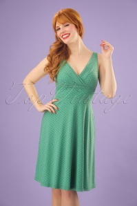 King Louie Ginger Dress Wide Pepita in Opal Green 23313 20171221 01W