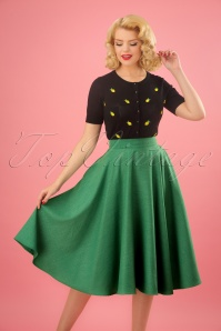 50s Sandy Swing Skirt in Green