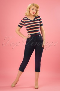 50s Susie Capri Pants in Denim