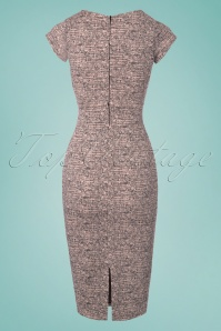 Vintage Chic Cap Sleeve Tweed Effect Pencil Dress 100 15 24527 20180124 0007W