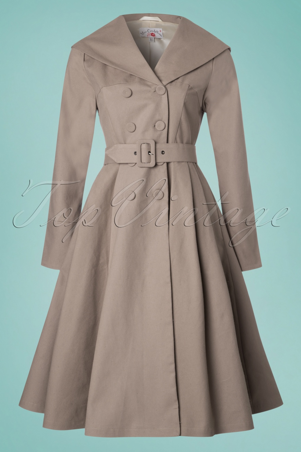 Vintage Coats & Jackets | Retro Coats and Jackets 50s Antonella Swing Trench Coat in Sand £138.15 AT vintagedancer.com