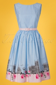 Bunny Paname 50s Dress in Blue 24038 20171222 0002W