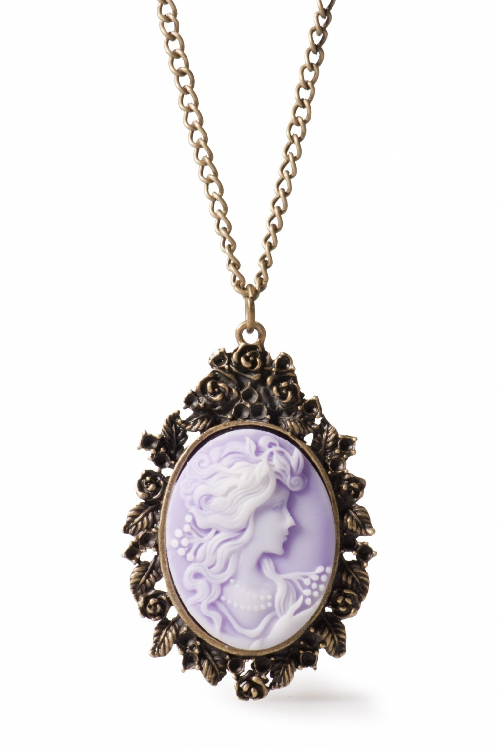 Camee Rose lila vintage necklace