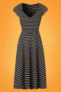 Vintage Chic Striped Dress 102 14 24487 20180227 0001W