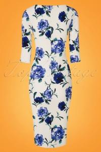 Vintage Chic Blue Floral Pencil Dress 100 59 24969 20180227 0004W
