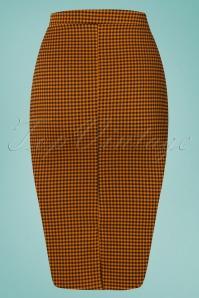 Vintage Chic Houndstooth Orange Pencil Skirt 120 89 24496 20180227 0008W