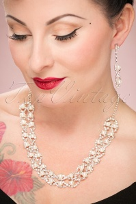 Collectif Silver Diamante Jewellery Set 300 92 24378 17112017 002W