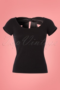 Bunny Black Celine Bow Top 111 10 24074 20180228 0001W