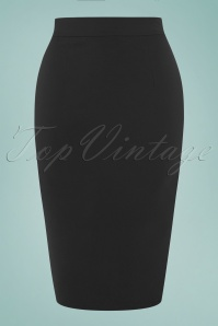Collectif Clothing Polly Plain Black Skirt 120 10 16177 1W