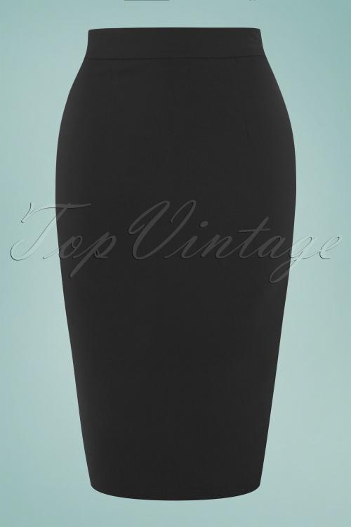 2b0e3b9297 Collectif Clothing Polly Plain Black Skirt 120 10 16177 1W