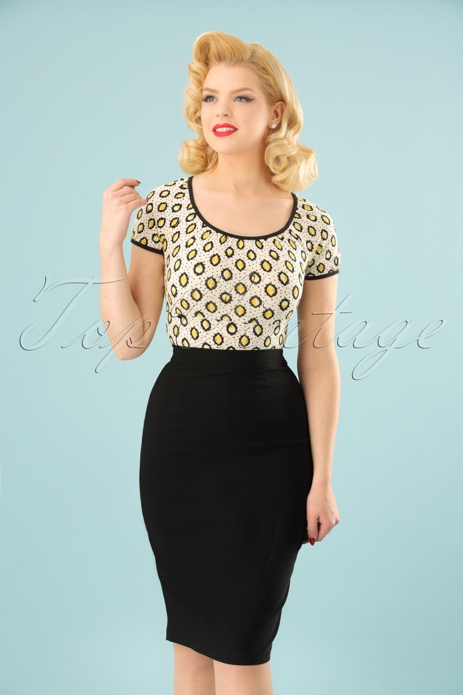1950s Swing Skirt, Poodle Skirt, Pencil Skirts 50s Polly Bengaline Skirt in Black £28.73 AT vintagedancer.com