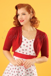 50s Hudson Bolero in Dark Red
