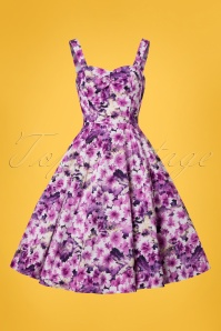 Hearts and Roses Purple Floral Swing Dress 102 69 21740 20170519 0003W