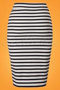 Le Pep Striped Pencil Skirt 120 39 23325 20180228 0001W