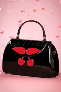 50s Debra Cherry Bag in Black